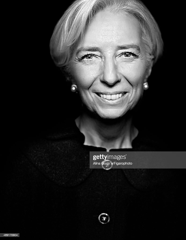 Managing director of the International Monetary Fund, Christine Lagarde is photographed for Madame Figaro on January 13, 2015 in her office in Washington, DC. PUBLISHED IMAGE.