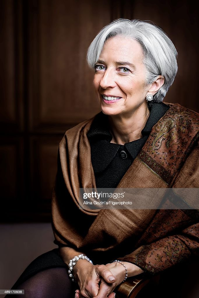 Managing director of the International Monetary Fund, Christine Lagarde is photographed for Madame Figaro on January 13, 2015 in her office in Washington, DC.