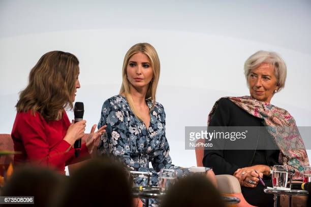 Managing Director of the International Monetary Fund Christine Lagarde Daughter of US President Ivanka Trump and Canada's Minister for Foreign...
