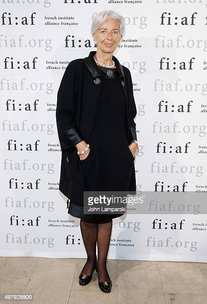 Managing Director of the International Monetary Fund Christine Madeleine Odette Lagarde attends 2015 Trophee Des Arts Gala at The Plaza Hotel on...