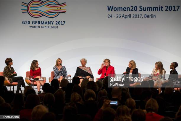 Managing Director of the International Monetary Fund Christine Lagarde German Chancellor Angela Merkel Daughter of US President Ivanka Trump Canada's...