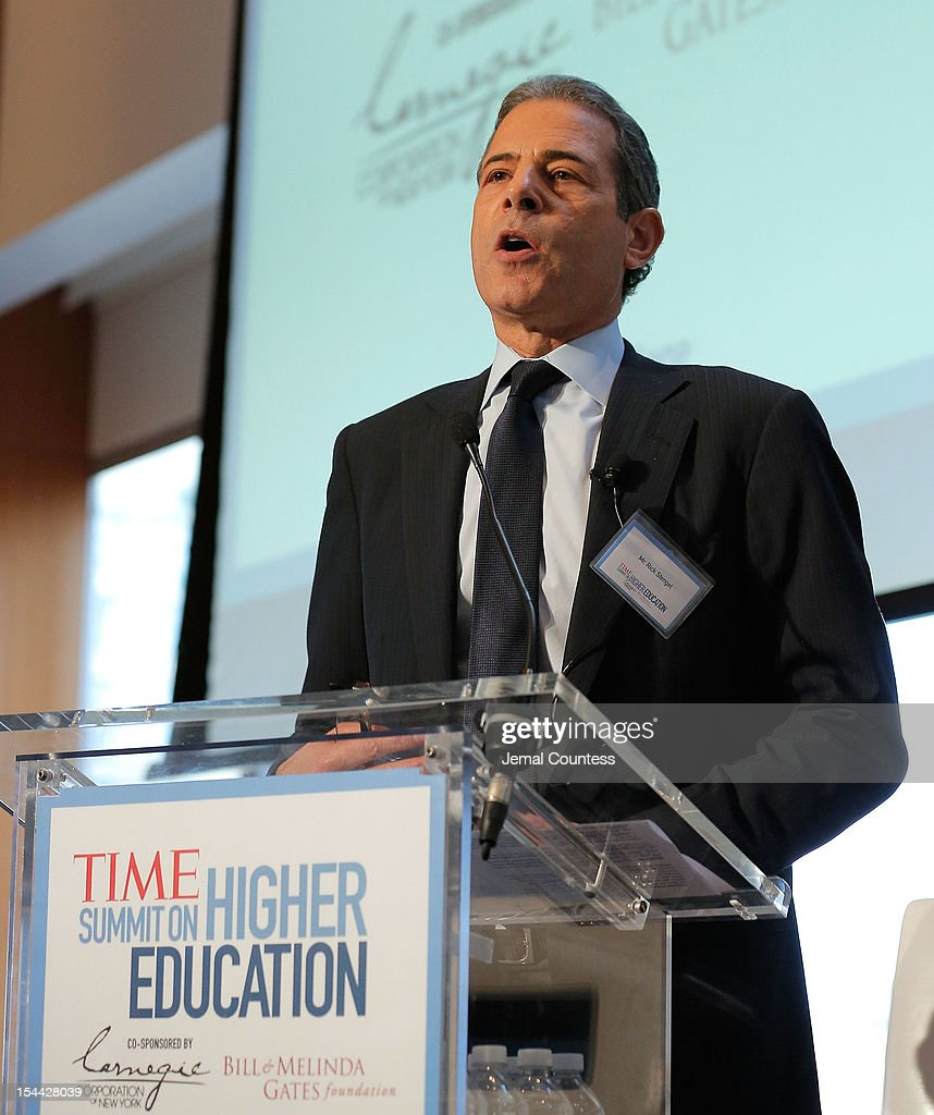 Managing Editor of TIME Rick Stengel address the audience during the TIME Summit On Higher Education on October 18, 2012 in New York City.