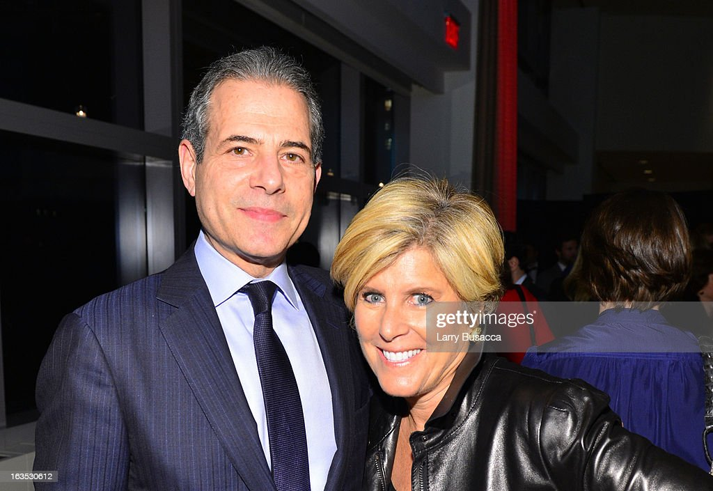 Managing Editor Richard Stengel and Suze Orman attend Time Warner's Conversations on the Circle: A Conversation With Sheryl Sandberg, Chief Operating Officer, Facebook And Moderated By Nancy Gibbs, Deputy Managing Editor, TIME on March 11, 2013 in New York City.
