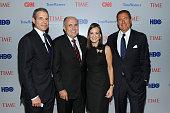 TIME managing editor Richard Stengel former New York City Mayor Rudy Giuliani Judith Giuliani and Co President of HBO Richard Plepler attend Time...