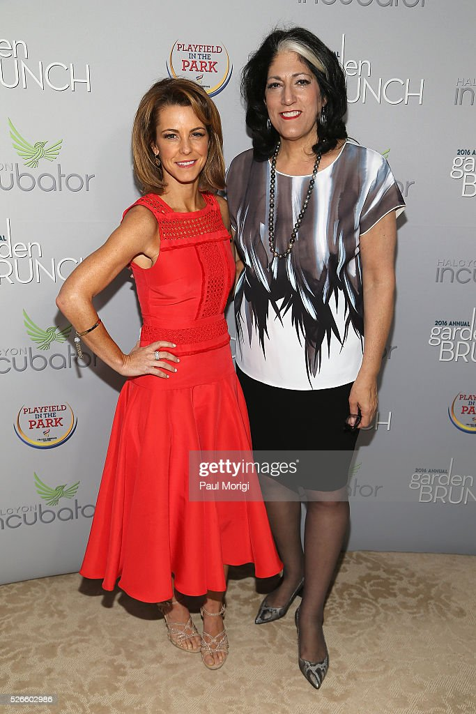 Managing Editor/Anchor at Bloomberg Television Stephanie Ruhle (L) and Tammy Haddad attend the Garden Brunch prior to the 102nd White House Correspondents' Association Dinner at the Beall-Washington House on April 30, 2016 in Washington, DC.