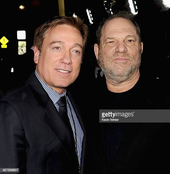 Managing Partner Kevin Huvane and producer Harvey Weinstein attend the Premiere of The Weinstein Company's 'August Osage County' at Regal Cinemas LA...