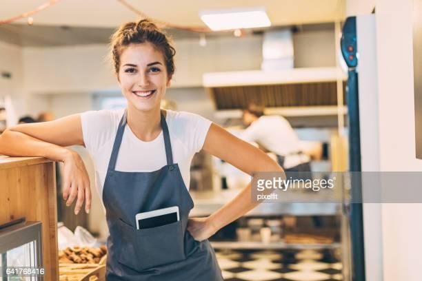 Geschäftsführer der Bäckerei mit Zuversicht