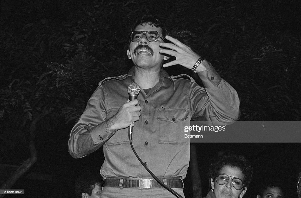 Junta Coordinator Commander Daniel Ortega told a group of U.S. doctors visiting Nicaragua Wednesday night that while some people go hungry in the United States, the Reagan administration is spending millions in an undeclared war against this country.