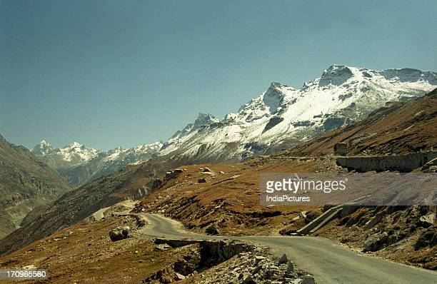 ManaliLeh Highway along Rohtang Pass junction of Lahaul Spiti and Kullu valley Manali Himachal Pradesh India