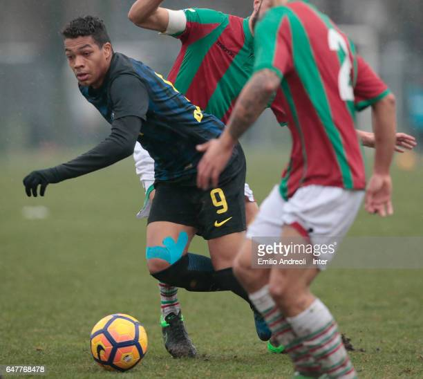 Manaour Mouhamed Belkheir of FC Internazionale Milano competes for the ball during the Primavera Tim juvenile match between FC Internazionale and...