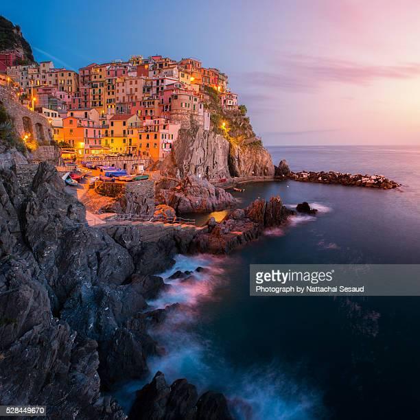 Manarola, Cinque Terre by night