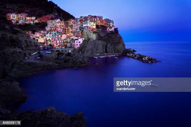 Manarola village in the Cinque Terre at night