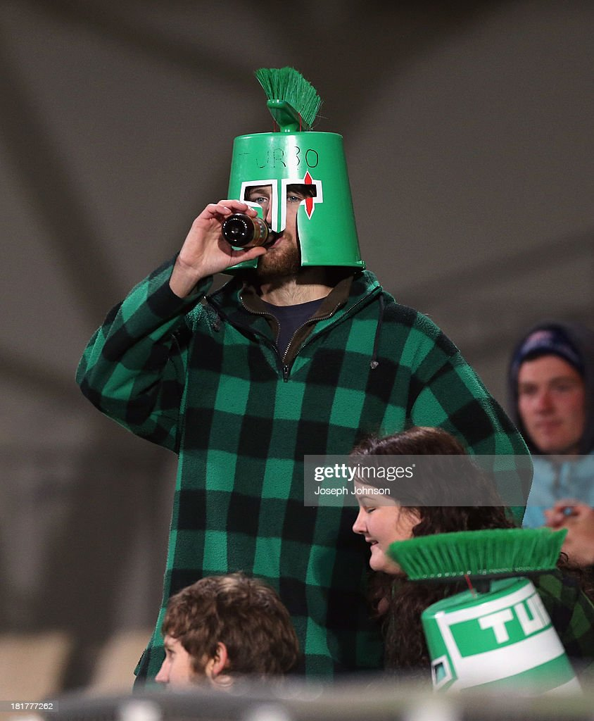 Manawatu supporter during the round 7 ITM Cup match between Canterbury and Manawatu at AMI Stadium on September 25, 2013 in Christchurch, New Zealand.