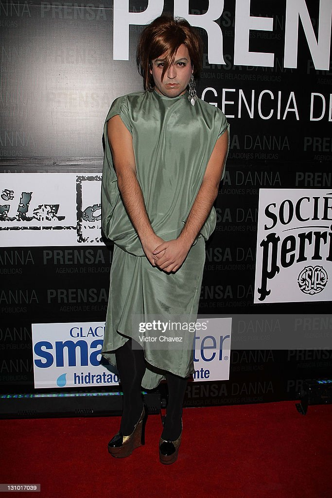 Mancandy fashion designer <a gi-track='captionPersonalityLinkClicked' href=/galleries/search?phrase=Andres+Jimenez&family=editorial&specificpeople=5498155 ng-click='$event.stopPropagation()'>Andres Jimenez</a> attends the Danna Press anniversary party at Gretta on October 28, 2011 in Mexico City, Mexico.