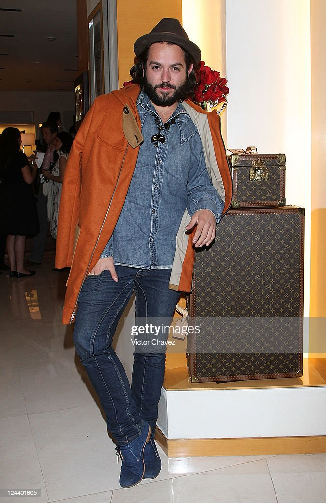Mancandy Fashion designer <a gi-track='captionPersonalityLinkClicked' href=/galleries/search?phrase=Andres+Jimenez&family=editorial&specificpeople=5498155 ng-click='$event.stopPropagation()'>Andres Jimenez</a> attends the Vogue's Fashion's Night Out at Louis Vuitton Polanco store on September 8, 2011 in Mexico City, Mexico.