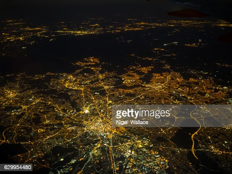 Manchester at night : Stock Photo