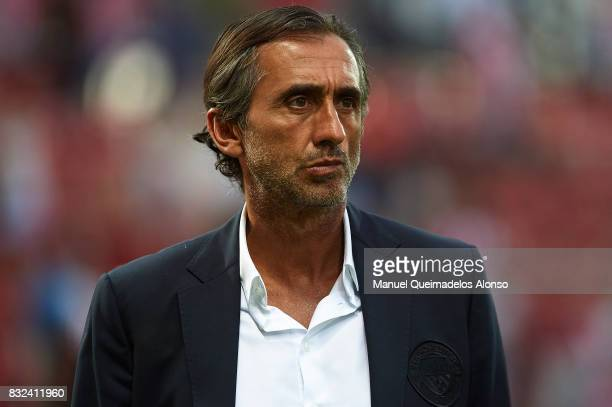 Manchester City assistant coach Manel Estiarte looks on during the preseason friendly match between Girona and Manchester City at Municipal de...