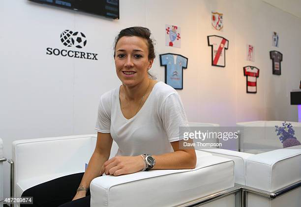 Manchester City footballer Lucy Bronze during day four of the Soccerex Global Convention at Manchester Central on September 8 2015 in Manchester...