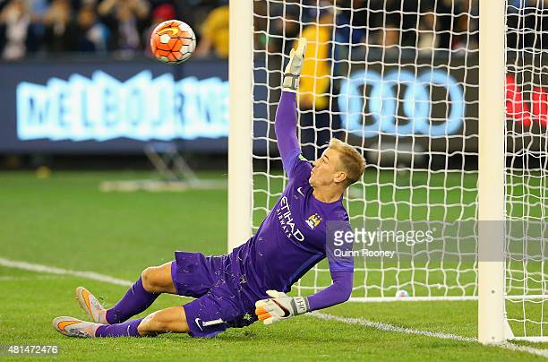 Manchester City goalkeeper Joe Hart attempts to make a save during the penalty shoot out at the end of the International Champions Cup friendly match...