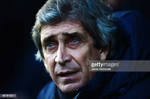 Manchester City manager Manuel Pellegrini looks on before the Barclays Premier League match between Norwich City and Manchester City at Carrow Road...