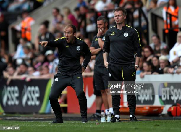 Manchester City manager Nick Cushing gestures on the touchline