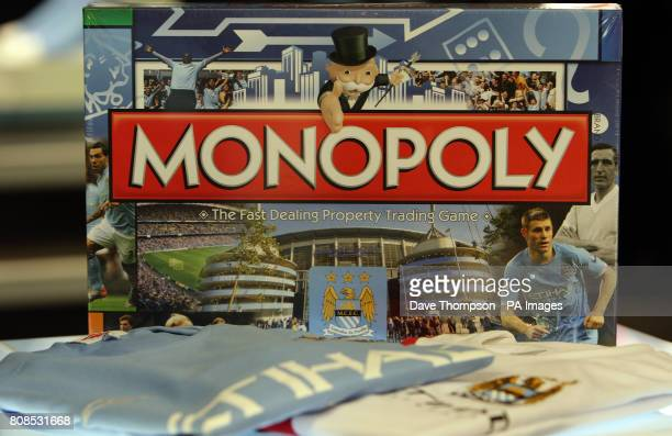 A Manchester City Monopoly board game on sale at the new club shop in Manchester city centre