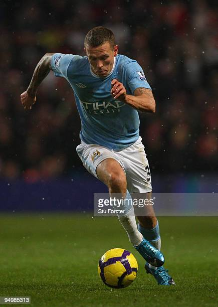 Manchester City striker Craig Bellamy in action during the Barclays Premier League game between Manchester City and Sunderland at City of Manchester...