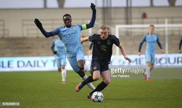 Manchester City U19's Rodney Kongolo in action against Celtic in the Uefa Youth League
