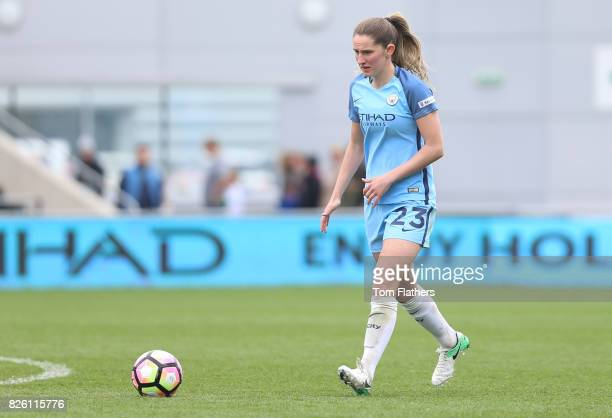 Manchester City's Abi McManus in action against Liverpool