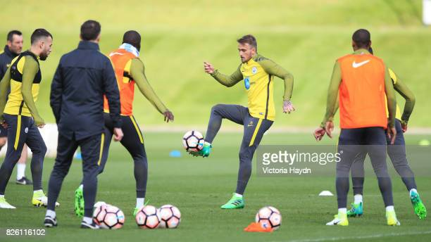 Manchester City's Aleix Garcia during training