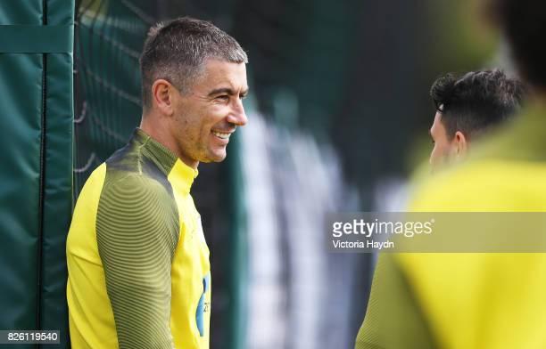 Manchester City's Aleksandar Kolarov during training