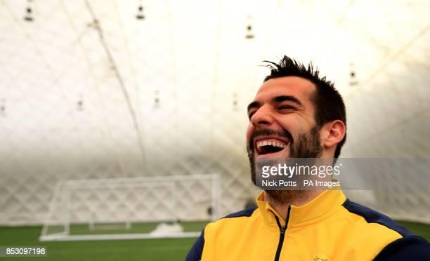 Manchester City's Alvaro Negredo during the media day at Carrington Training Ground Manchester