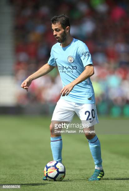 Manchester City's Bernado Silva during the Premier League match at the Vitality Stadium Bournemouth