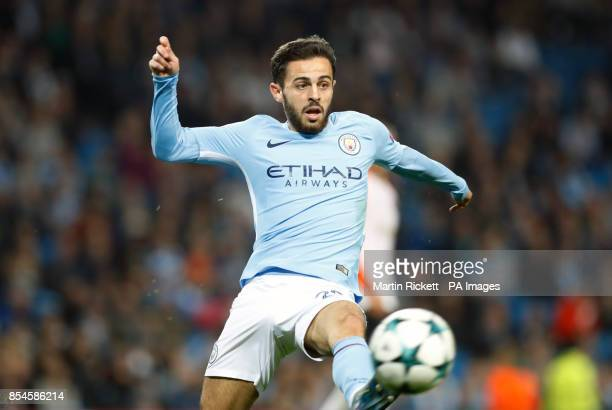 Manchester City's Bernado Silva during the UEFA Champions League Group F match at the Etihad Stadium Manchester PRESS ASSOCIATION Photo Picture date...