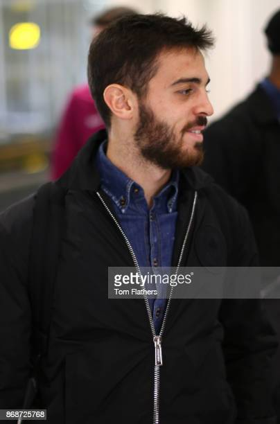 Manchester City's Bernardo Silva departs Manchester Airport on October 31 2017 in Manchester United Kingdom