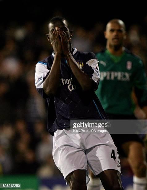 Manchester City's Bradley WrightPhillips stands dejected