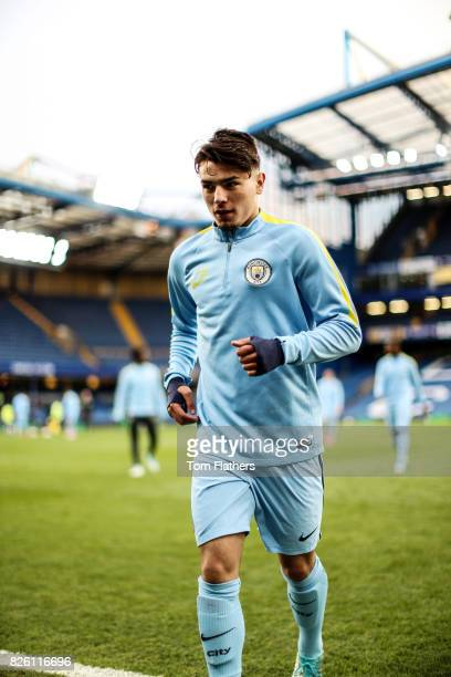 Manchester City's Brahim Diaz ahead of the FA Youth Cup Final