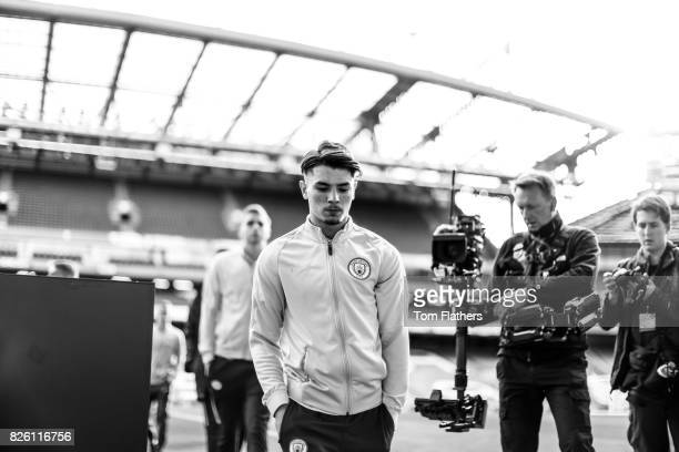 Manchester City's Brahim Diaz before the FA Cup Youth Final against Chelsea