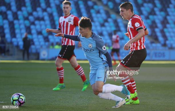 Manchester City's Brahim Diaz in action against Southampton