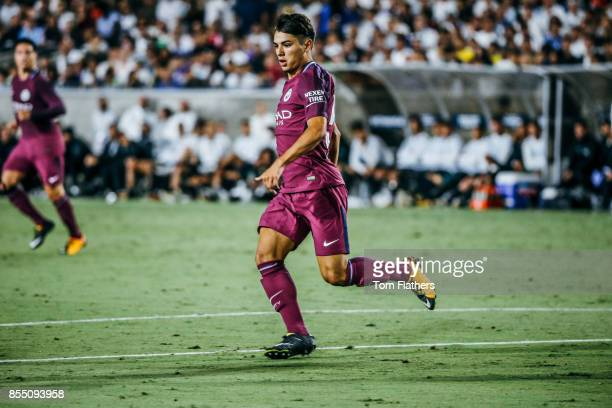 Manchester City's Brahim Diaz in action at the Los Angeles Memorial Coliseum on July 26 2017 in Los Angeles California