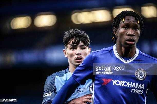 Manchester City's Brahim Diaz in action in the FA Youth Cup Final