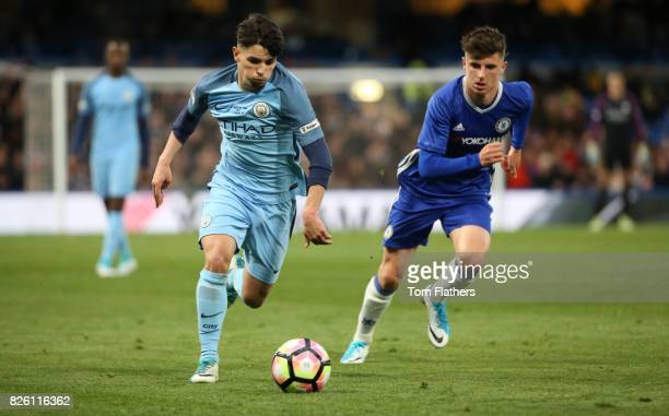 Manchester City's Brahim Diaz in the FA Youth Cup Final against Chelsea
