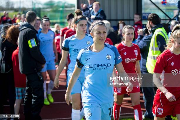 Manchester City's Carli Lloyd in action against Bristol City