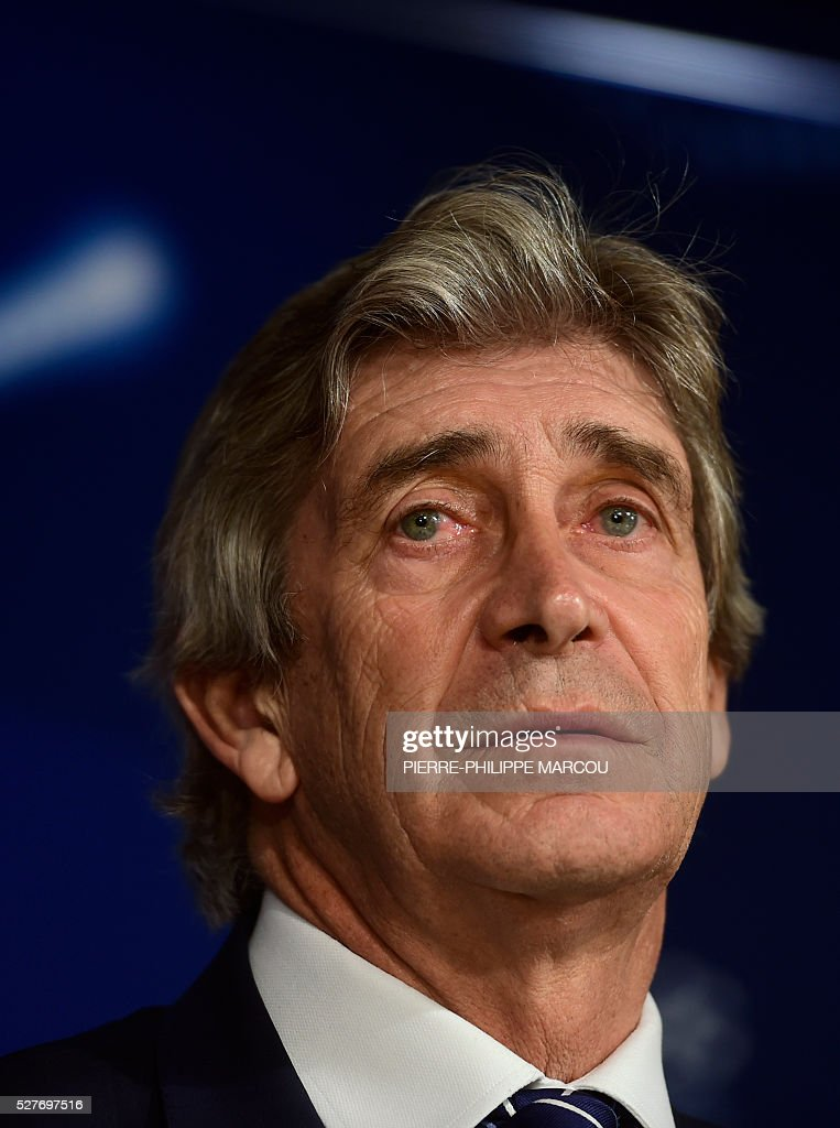 Manchester City's Chilean head coach Manuel Pellegrini listens to a question during a press conference at the Santiago Bernabeu stadium in Madrid on May 3, 2016 on the eve of their Champions League semi-final second leg football match against Real Madrid. / AFP / PIERRE