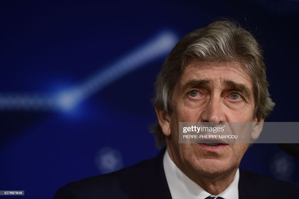 Manchester City's Chilean head coach Manuel Pellegrini speaks during a press conference at the Santiago Bernabeu stadium in Madrid on May 3, 2016 on the eve of their Champions League semi-final second leg football match against Real Madrid. / AFP / PIERRE