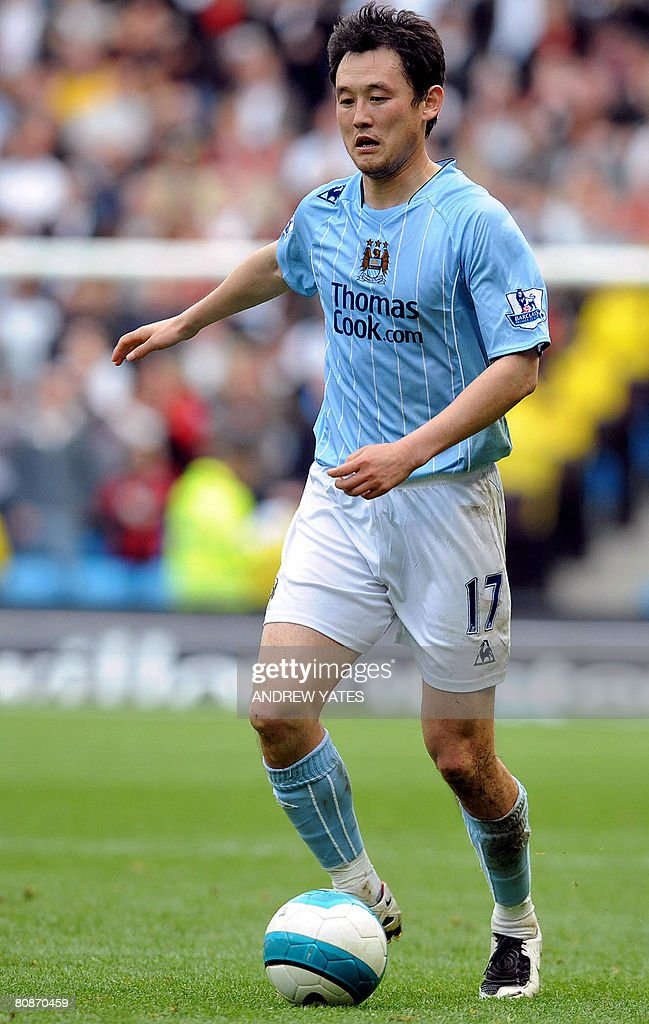 Manchester City's Chinese defender <a gi-track='captionPersonalityLinkClicked' href=/galleries/search?phrase=Sun+Jihai&family=editorial&specificpeople=228898 ng-click='$event.stopPropagation()'>Sun Jihai</a> controls the ball during their English Premier league football match against Fulham on April 25, 2008 at The City of Manchester Stadium, in Manchester, north-west, England. AFP PHOTO/ANDREW YATES Mobile and website use of domestic English football pictures are subject to obtaining a Photographic End User Licence from Football DataCo Ltd Tel : +44 (0) 207 864 9121 or e-mail accreditations@football-dataco.com - applies to Premier and Football League matches.