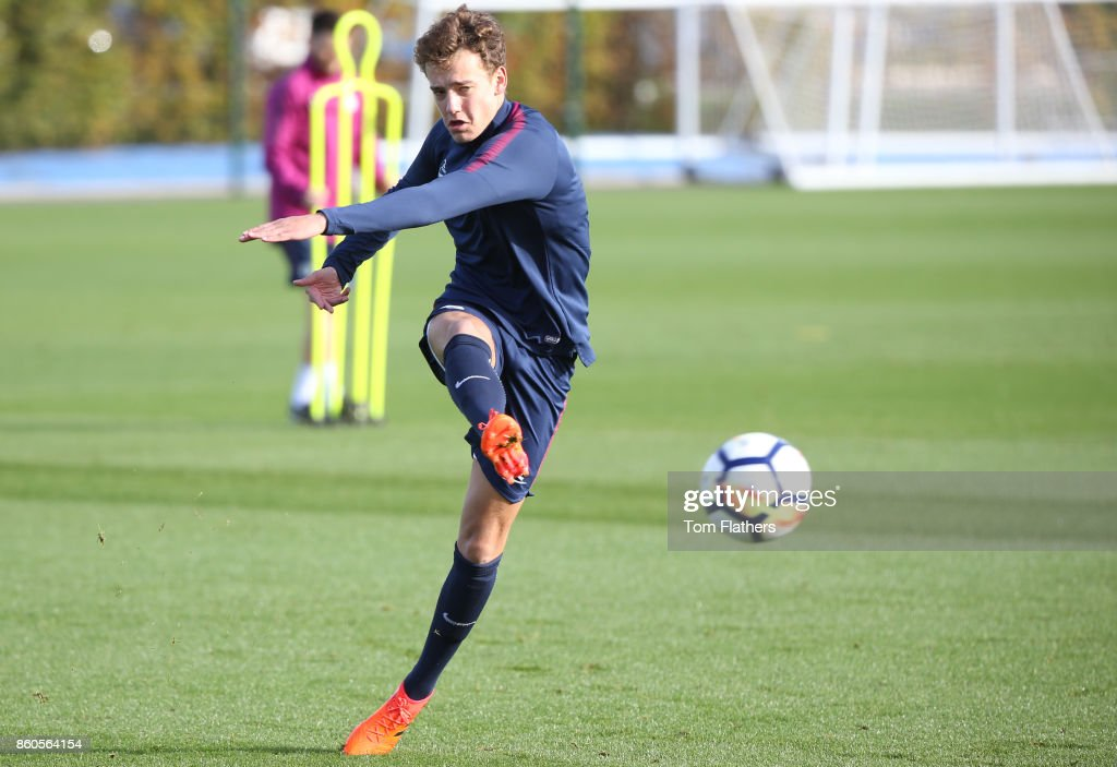 Manchester City's Colin Rosler during training at Manchester City Football Academy on October 12, 2017 in Manchester, England.