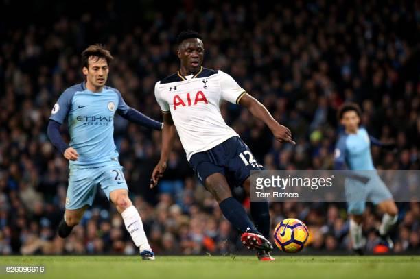 Manchester City's David Silva and Tottenham Hotspur's Victor Wanyama