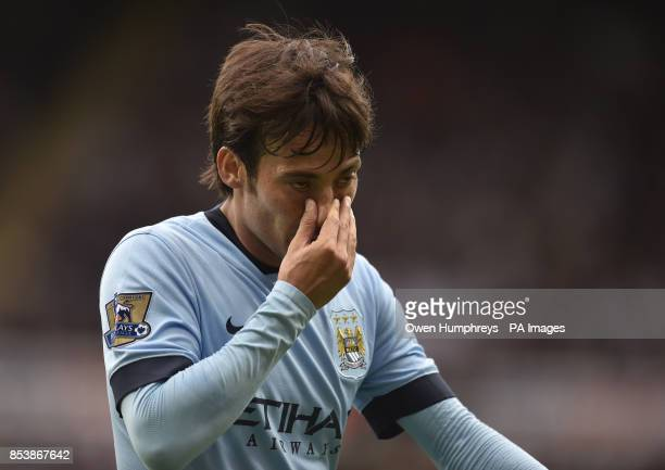 Manchester City's David Silva during the Barclays Premier League match at St James' Park Newcastle