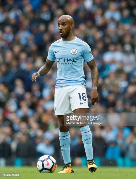 Manchester City's Fabian Delph during the Premier League match at the Etihad Stadium Manchester